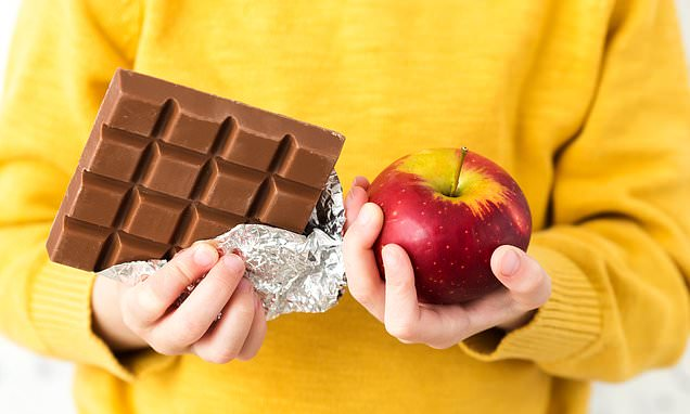 Hide fruit inbetween chocolate in aisles to encourage healthy choices