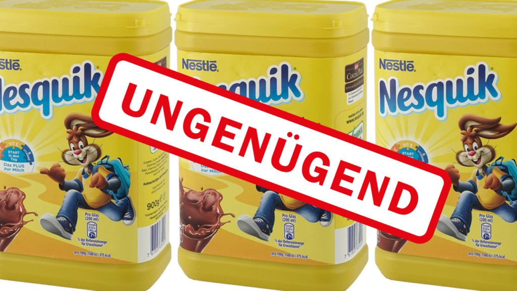 Nesquik cocoa from Nestlé in the Test completely failed – Even before the organ damage is warned!