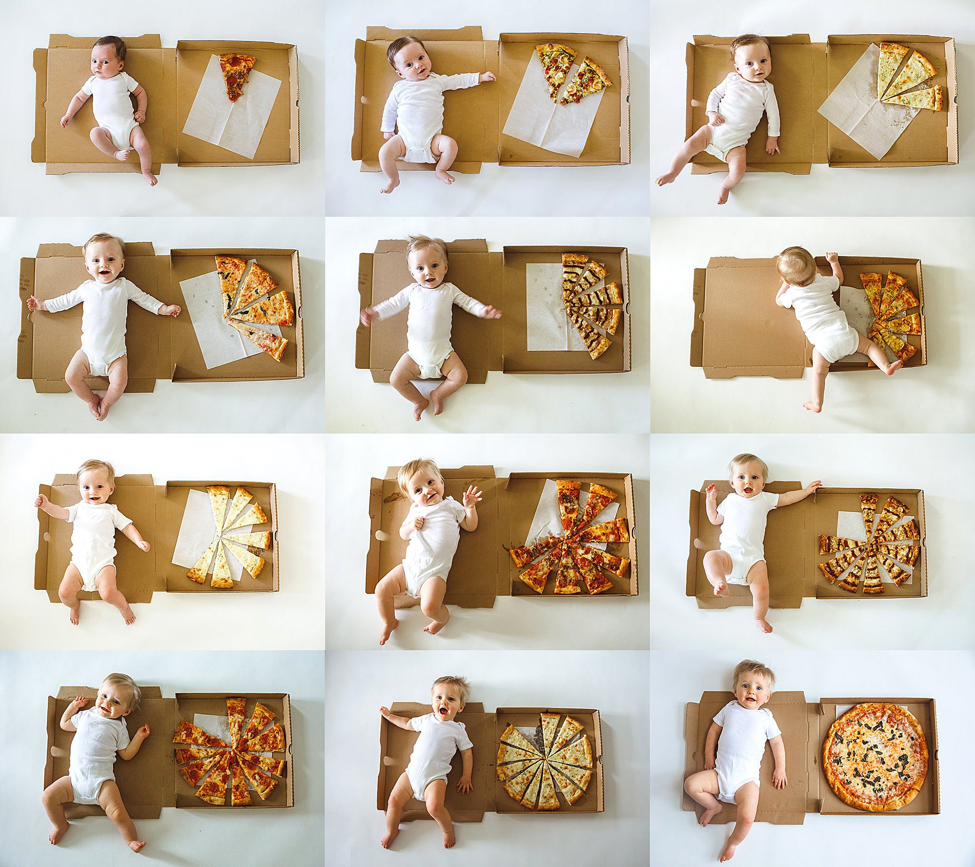 That's Amore! Mom Uses Pizza to Mark Her Son's Monthly Age Milestones – See the Creative Photos
