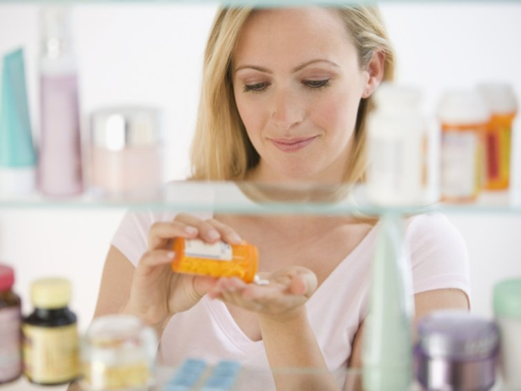 Vitamin pills do not store in kitchen or bathroom