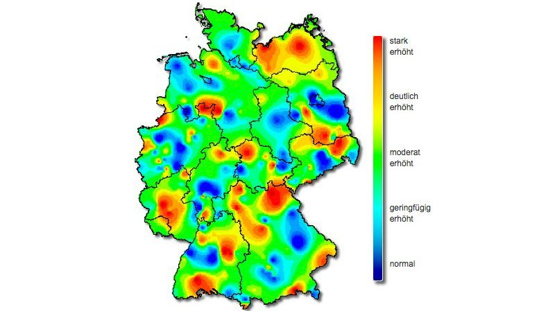 The flu season dies down, but not in the whole of Germany