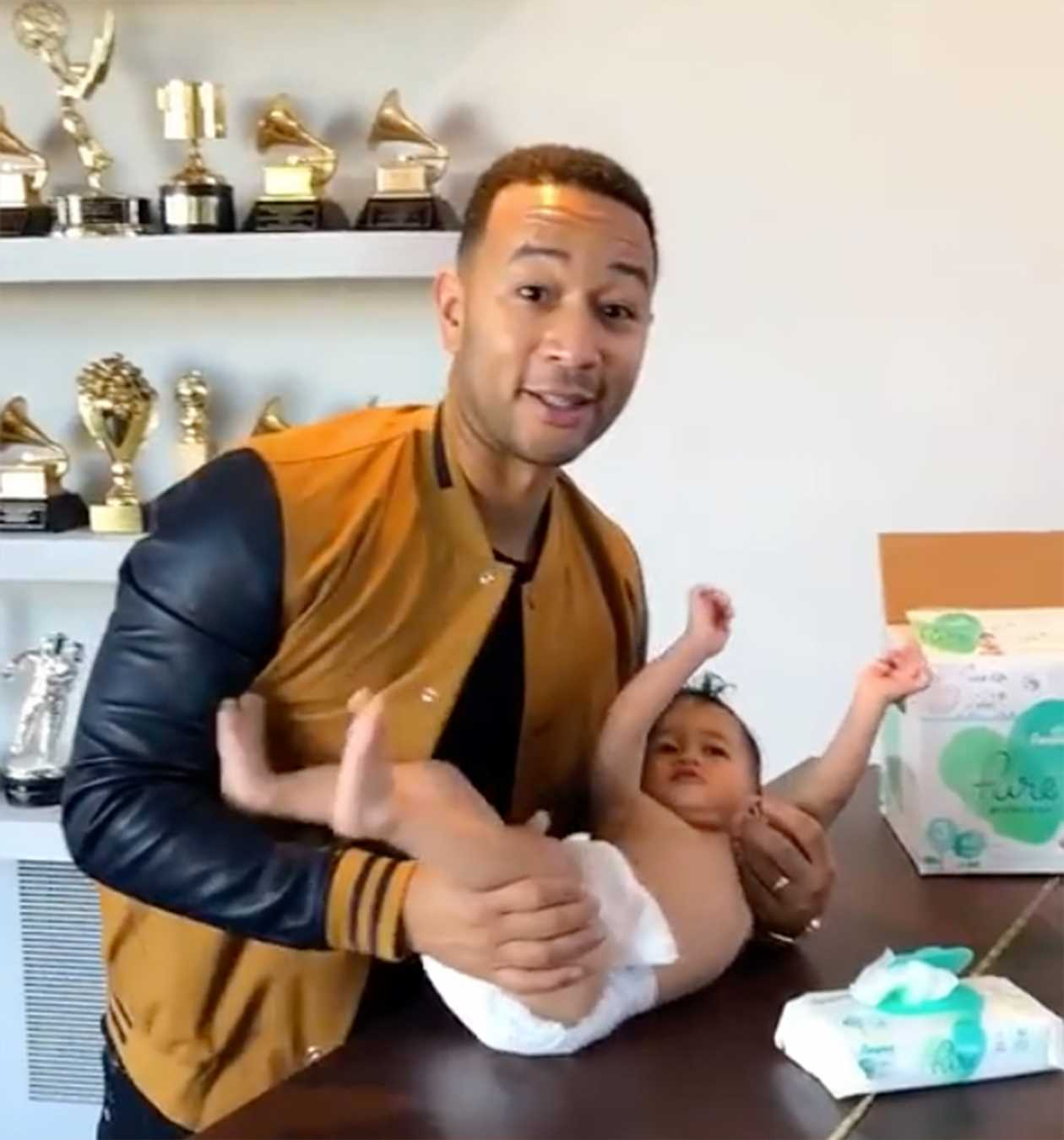 John Legend Wants Dads to Be 'Active' in Diaper Duty by Adding Changing Tables in Men's Rooms