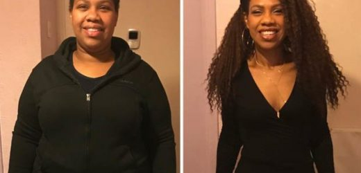 Mum sheds half her body weight and says she 'can't wait to date'