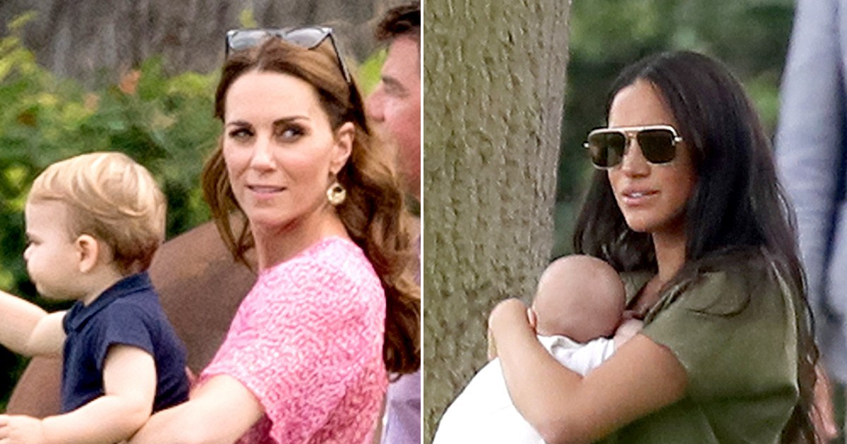 A Royal Playdate! Harry, Meghan, Will and Kate Bring Kids to Polo Match