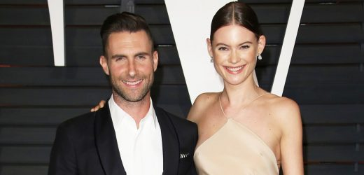Behati Prinsloo Posts Rare Pic Cuddling With Her and Adam Levine's Daughters