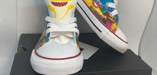 'Baby Shark' Inspires a Line of Colorful Custom Shoes for Babies and Kids – Where to Buy