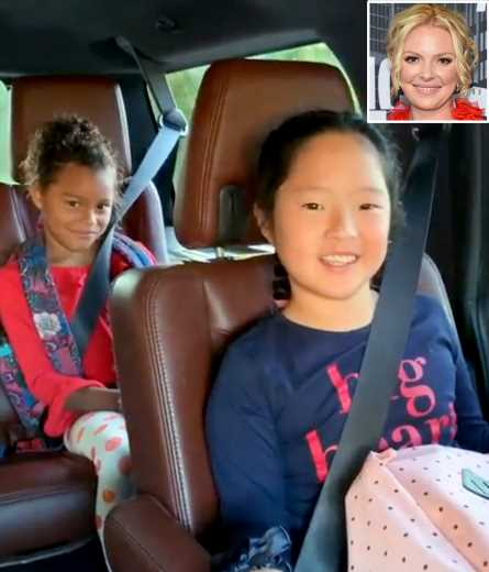 Hear Katherine Heigl Sing an 'Embarrassing Cheer' for Her Daughters' First Day of School