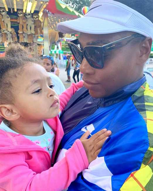 Serena Williams Says It's 'Painful' to Be Apart from Her Daughter Olympia While Competing