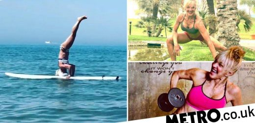 Bodybuilding grandmother of 11 is also an acrobatic surfer