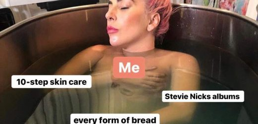 Lady Gaga's Nude Photo Was Turned Into the Ultimate Self-Care Meme—and It's Going Viral