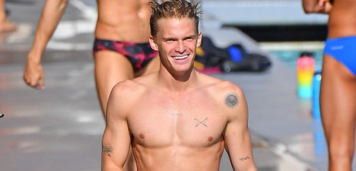 Hunks in Trunks! The Hottest Celebrity Men of Flaunt Their Pecs and Abs on the Beach