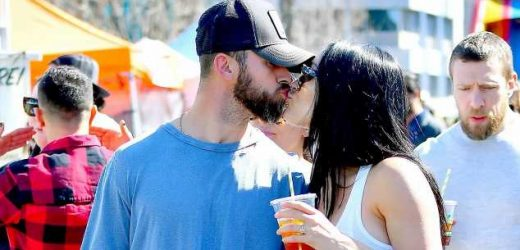 Nikki Bella Kisses Fiance Artem Chigvintsev While Showing Off Baby Bump