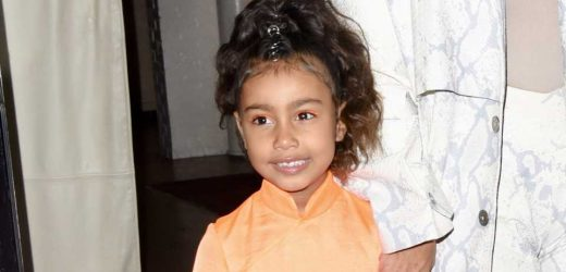 North West Wears a Tarantula on Her Head While Kim Kardashian Looks On