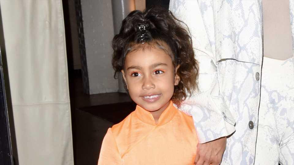 North West Wears a Tarantula on Her Head While Kim Kardashian Looks On