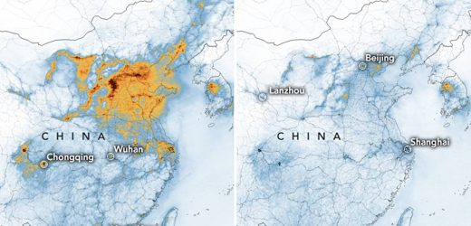 Due to Coronavirus-quarantine: air pollution in China