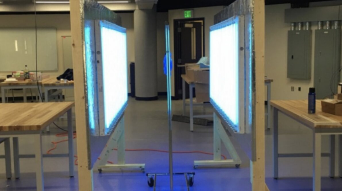 Engineers design UV stations to aid healthcare workers during COVID-19 pandemic