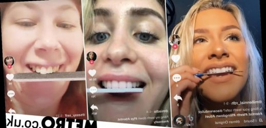 Dentists warn against TikTok trend for people using nail files on their teeth