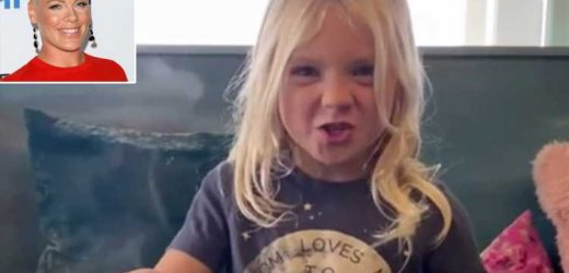 Pink Jokes 'This One Is Trouble' as She Teaches Son Jameson, 4, Lyrics to Daughter Willow's Song