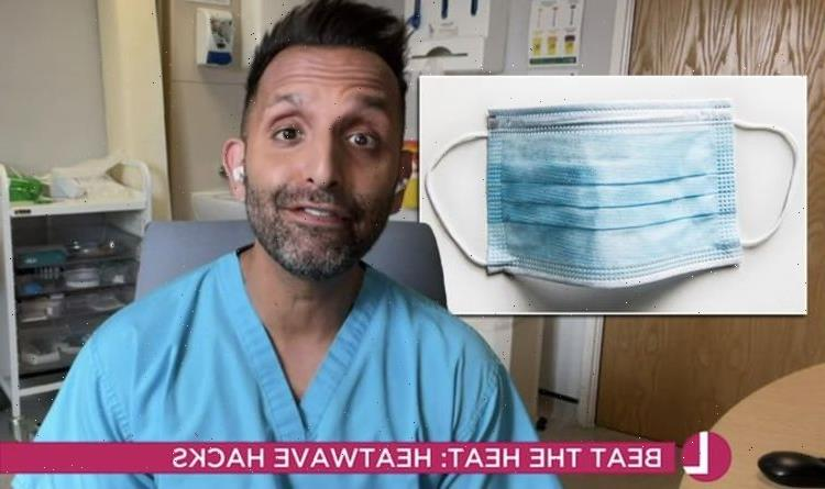 'Don't put face masks in the freezer' Dr Amir issues warning for keeping cool in the heat