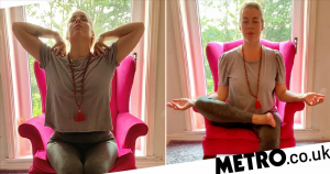 Try these at-home chair yoga poses for better posture and less back pain